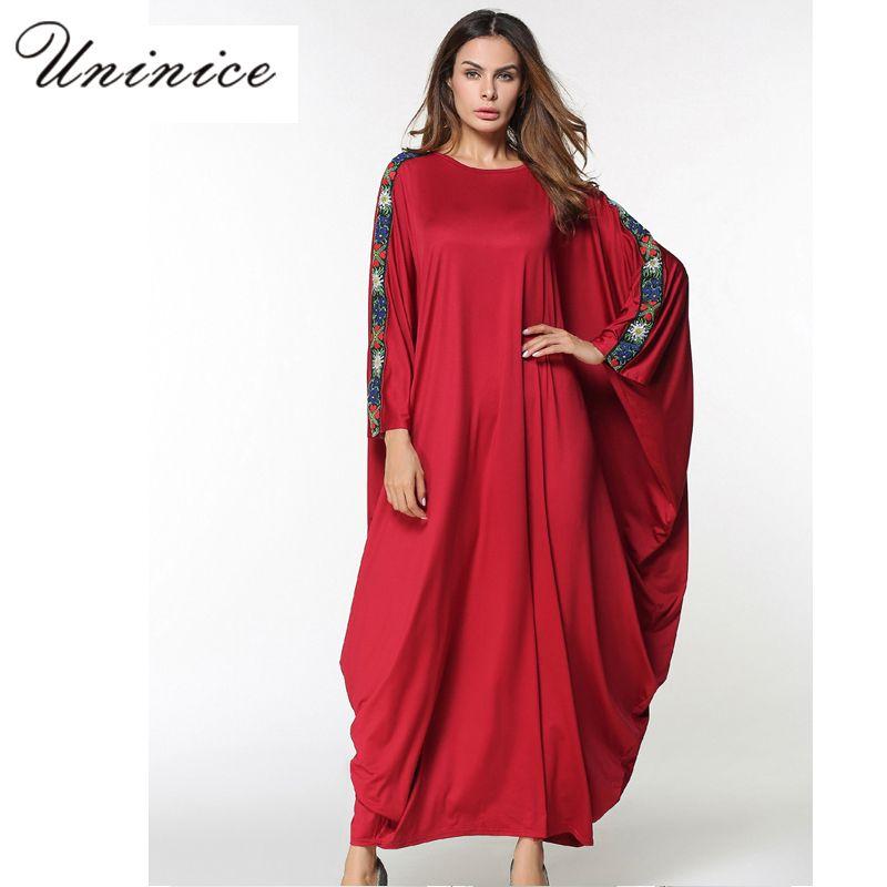 9c7c274aad Muslim Abaya Women s Maxi Dress Embroidery Plus Size Free Style Middle East  Long Robe Moroccan Ramadan Arab Islamic Clothing