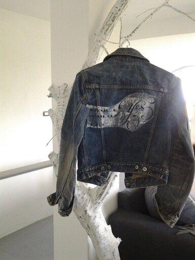★RR creazioni★ jeans Stampato e dipinto a mano