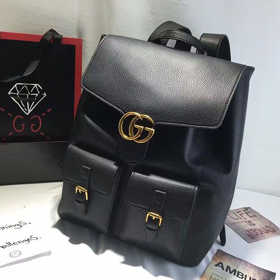 a4b7a7b3ce5b Gucci GG Marmont Leather Backpack Black 429007 | Gucci Backpack ...