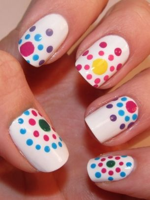 Funky Colorful Nail Art Ideas 2012   Unleash Your Rebellious Side And Stand  Out From The Crowd With Your Unique And Catchy Manicure Design.