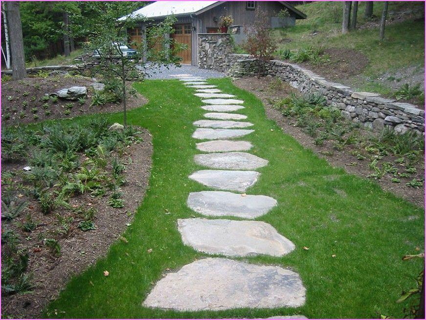 Natural Stepping Stone Walks And Paths Walkway Landscaping Garden Stepping Stones Stepping Stone Paths