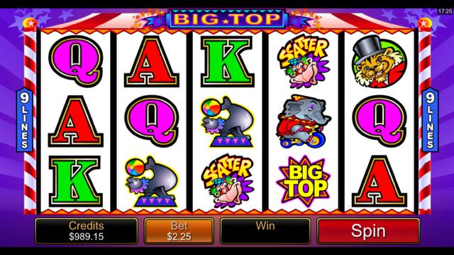 Big Top Slot Review Game Bonus Casino Games Games Casino