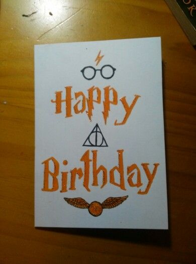 Harry Potter Birthday Card