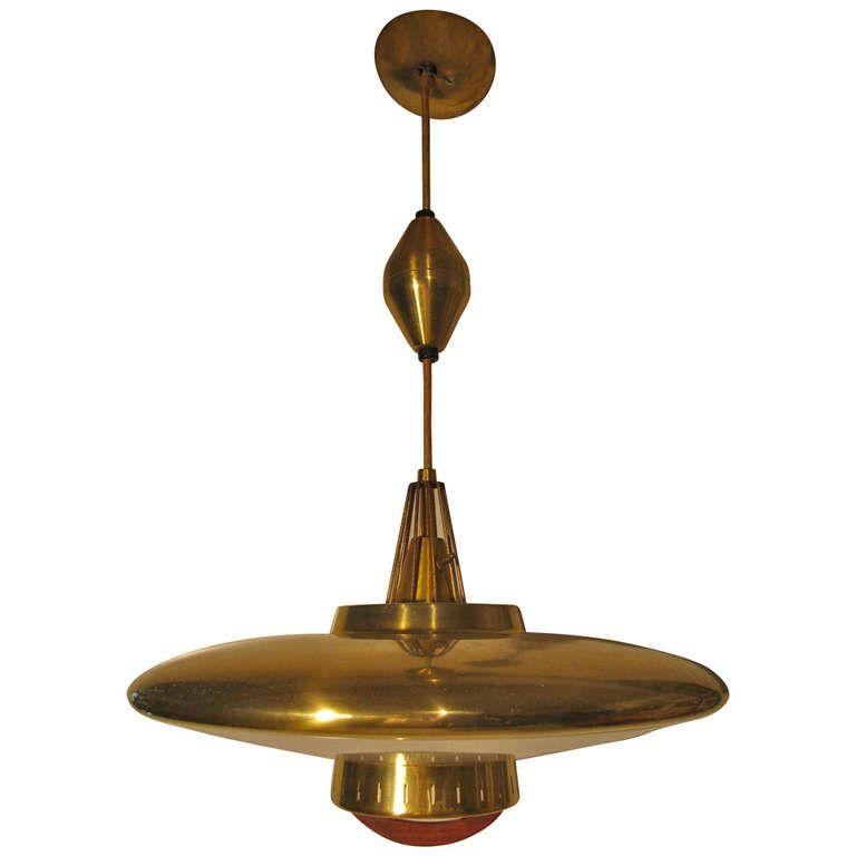 mid century modern pendant lamp manner of paavo tynell vintage lighting modern pendant light. Black Bedroom Furniture Sets. Home Design Ideas
