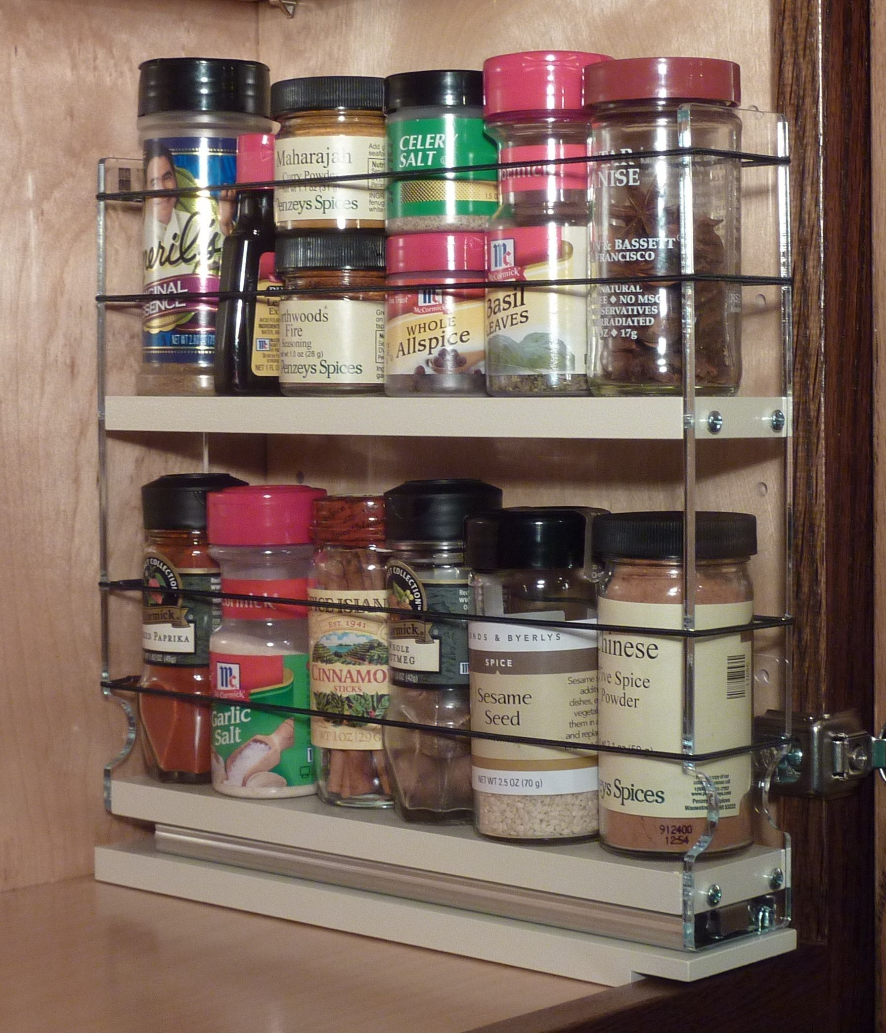 Spice Rack Narrow Space 12 Capacity Drawer