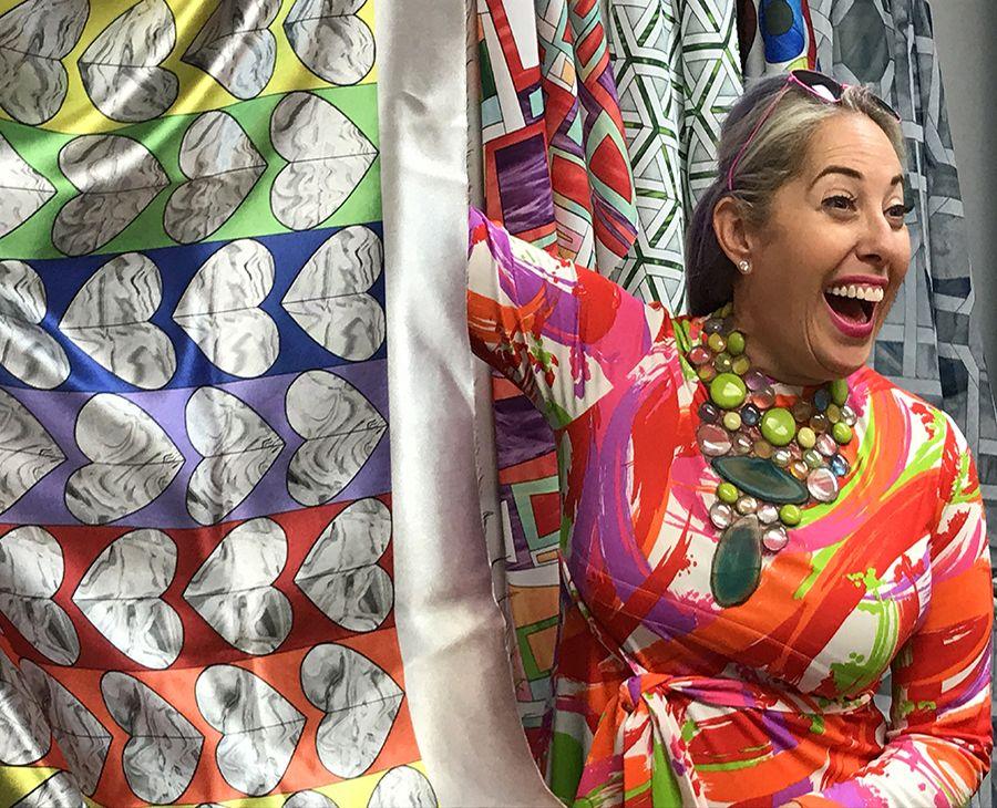 Textiles Designed By Allison Eden Studios Glass Mosaic Tiles