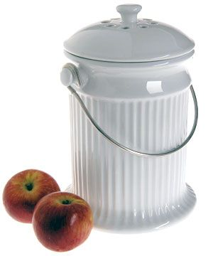 Ceramic Kitchen Compost Pail: Easy Countertop Composting Crock