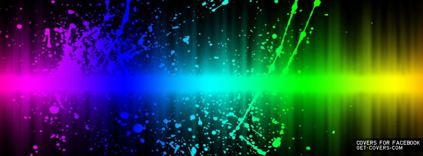Rainbow Splatter Facebook Covers Facebook Profile Covers With