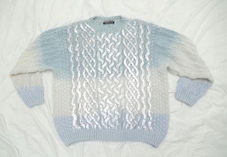 (15) ハートの、 : 記憶の中のセーター (men's) / blue- SILVER FOIL | Sumally