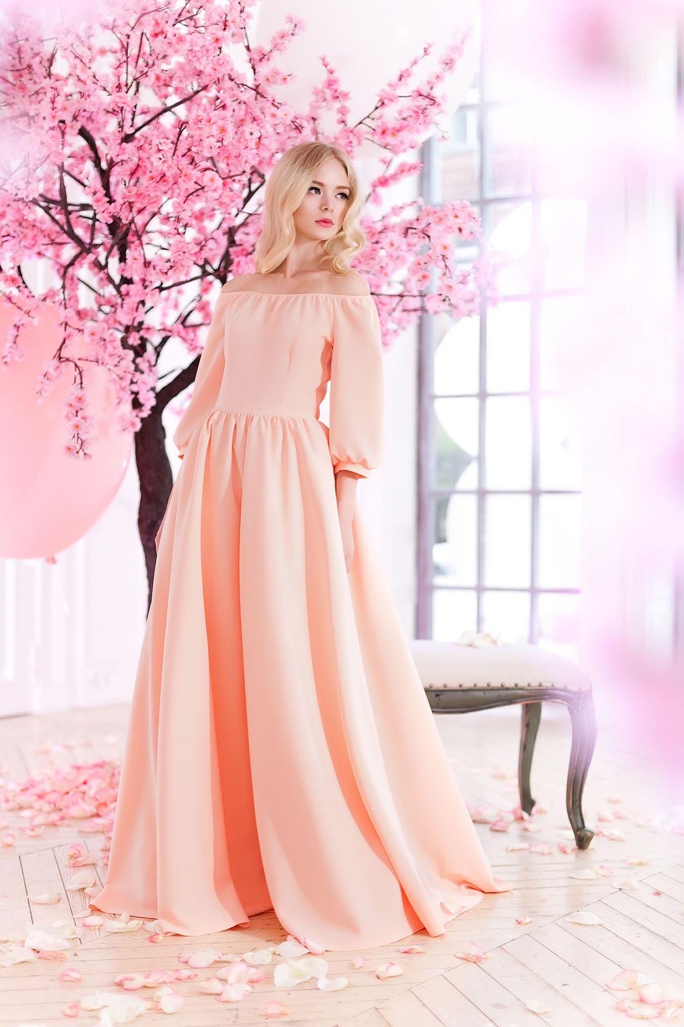 Платье «Аксинья» (персик) — 23 990 рублей | Vestidos. | Pinterest ...