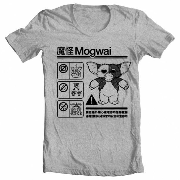 e0ecef6b Oh o, wish I'd had this Gremlins Mogwai Warning T-shirt before me and Gizmo  went to the beach today.