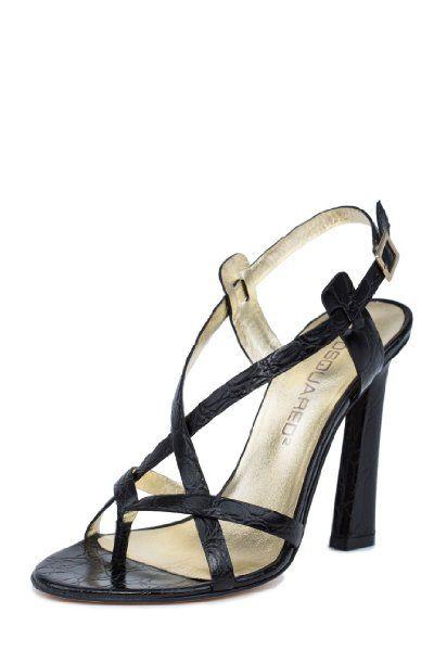 71354d2078f2c Dsquared2 Women s Crocodile Print Thong Leather High Heels Sandals ...