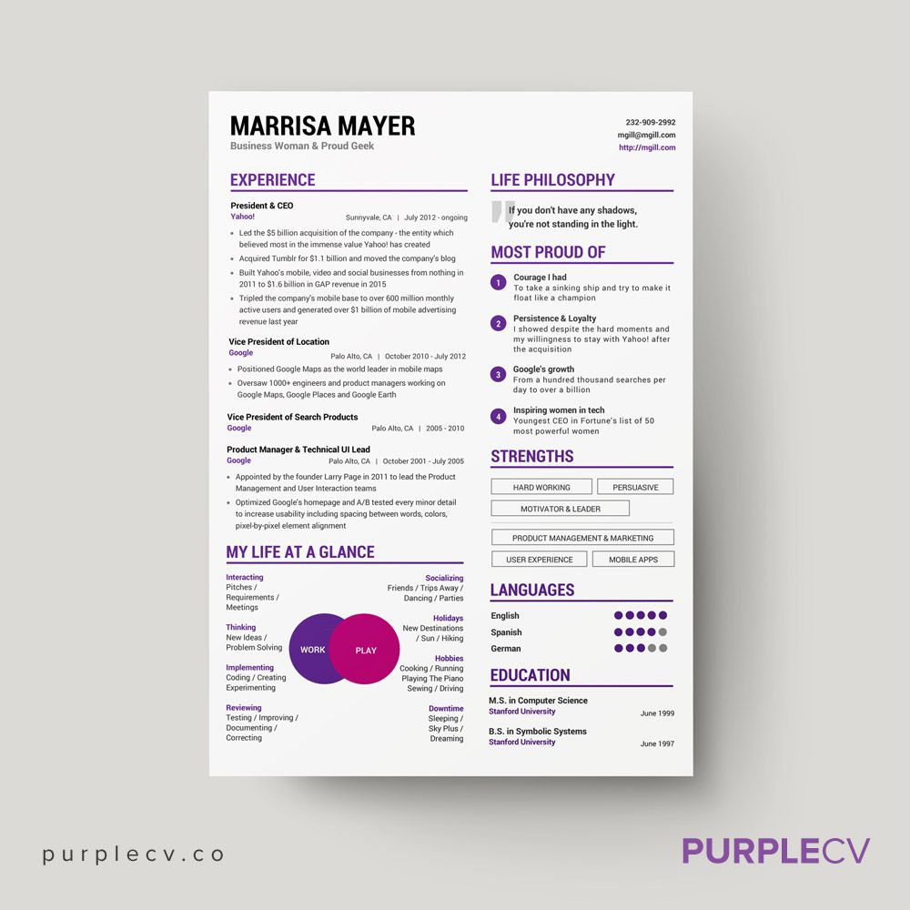 Use This Resume Template To Present Your Personal Brand Improve