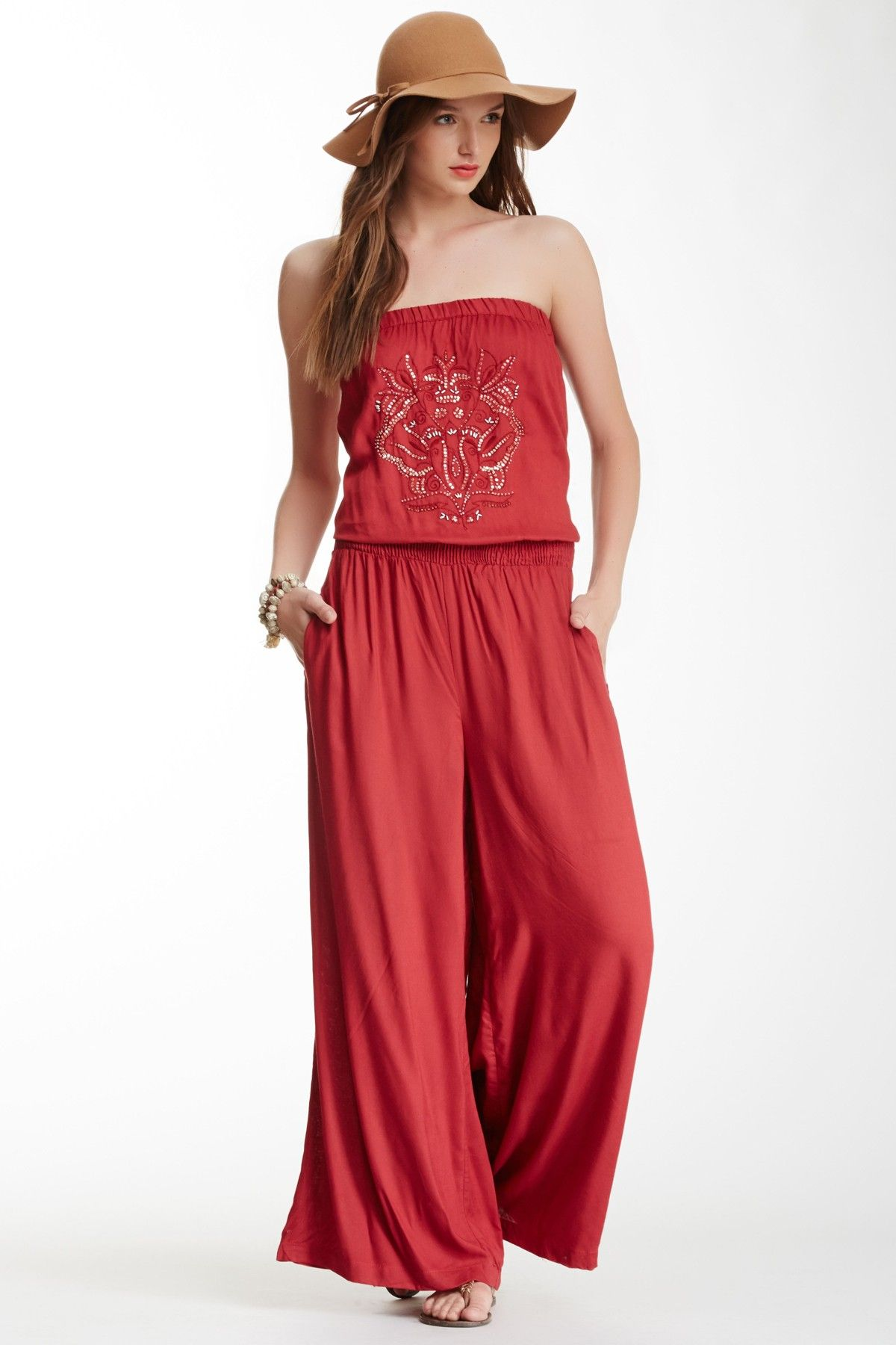 Angie | Strapless Palazzo Pant Jumpsuit | Spring/Summer ...