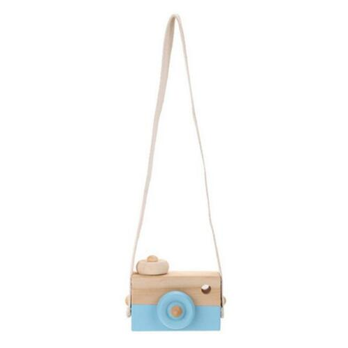 Painted Nursery Kids Wood Camera Children Room Decor Natural Safe Wooden Toy