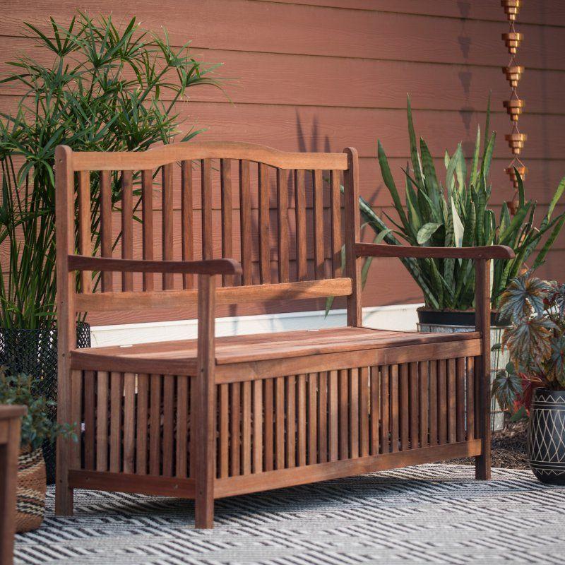 Amazing Outdoor Belham Living Pearson Curved Back Storage Bench Creativecarmelina Interior Chair Design Creativecarmelinacom