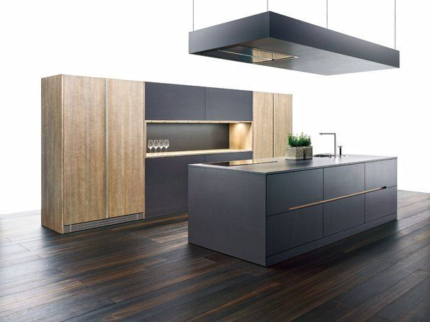 """Moderne Küche in Schwarz und Weiss """"NewYork nero/Modena"""