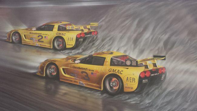 Corvette Rolex 24 Dale Earnhardt Sr Jr Print By Bivens