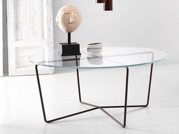 9ff37cc77837bb GEMMA Table basse en acier et verre Collection Gemma by Altinox Minimal  Design design Majo Tumini