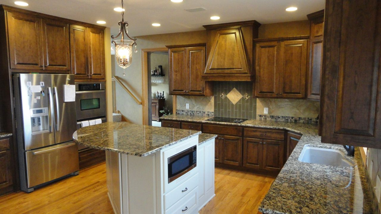 White Stained Cabinets #12   Poplar Wood Kitchen Cabinets
