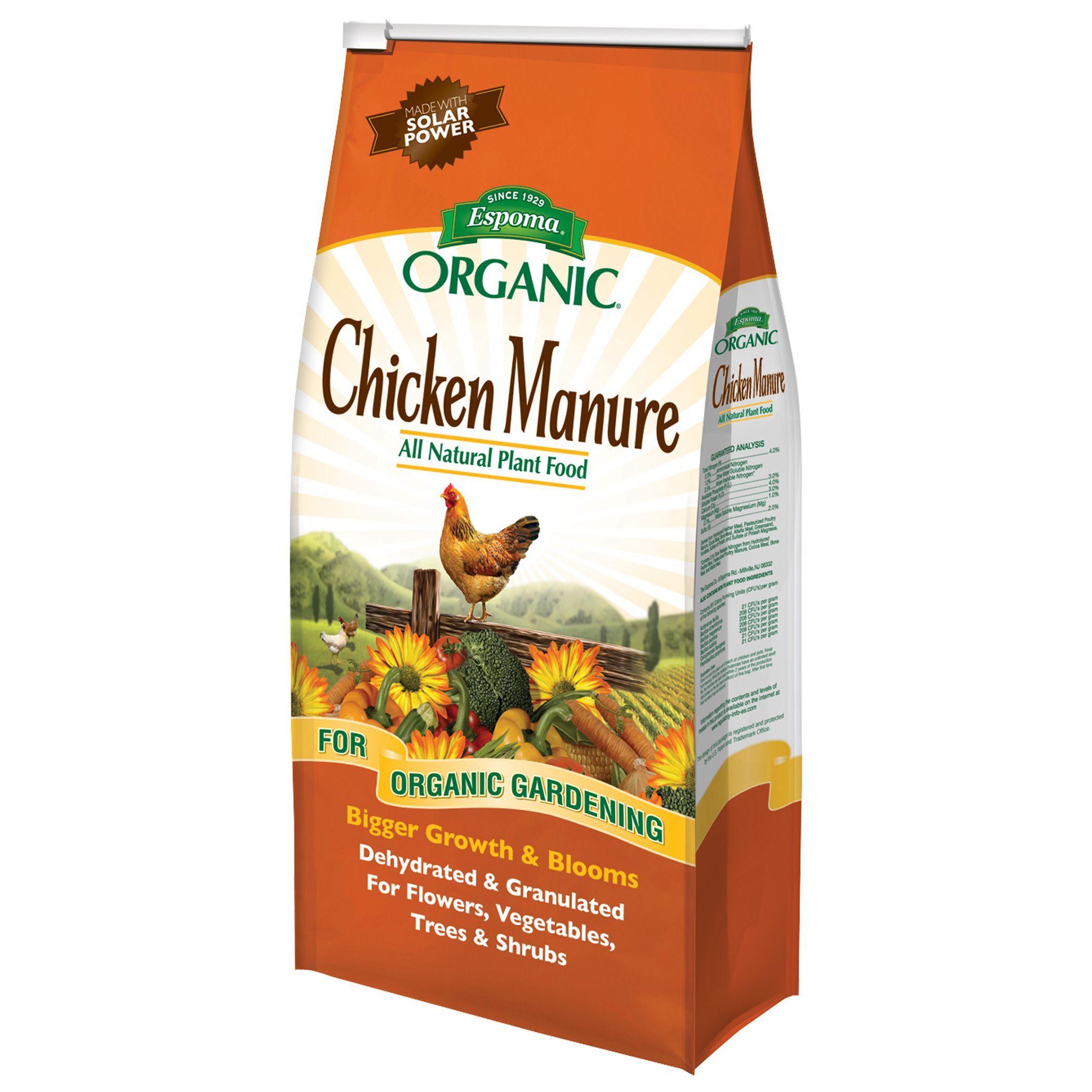 Espoma Organic 25 Pound Organic Chicken Manure Plant Food Plant