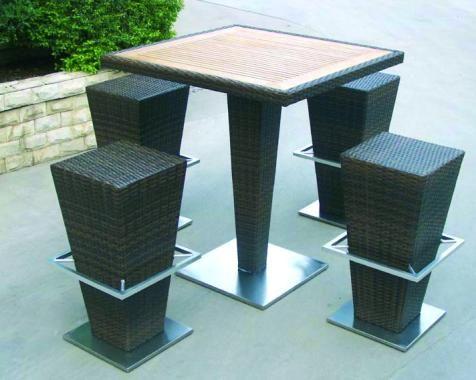 bar de jardin fusyon avec table haute