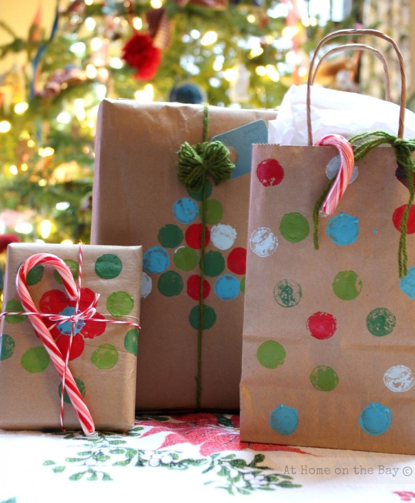 Recycled Paper Bag Gift Wrap Ideas Christmas Pinterest Paper