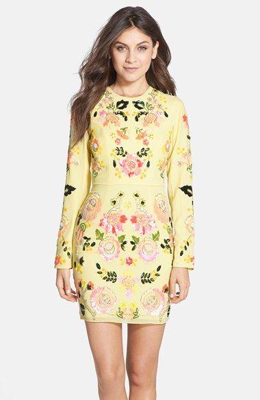 Needle Thread Summer Garden Fl Sequin Body Con Dress Available