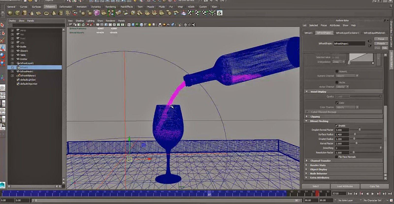 Maya Bifrost Fluid Simulations basic tutorial | CG Tutorials