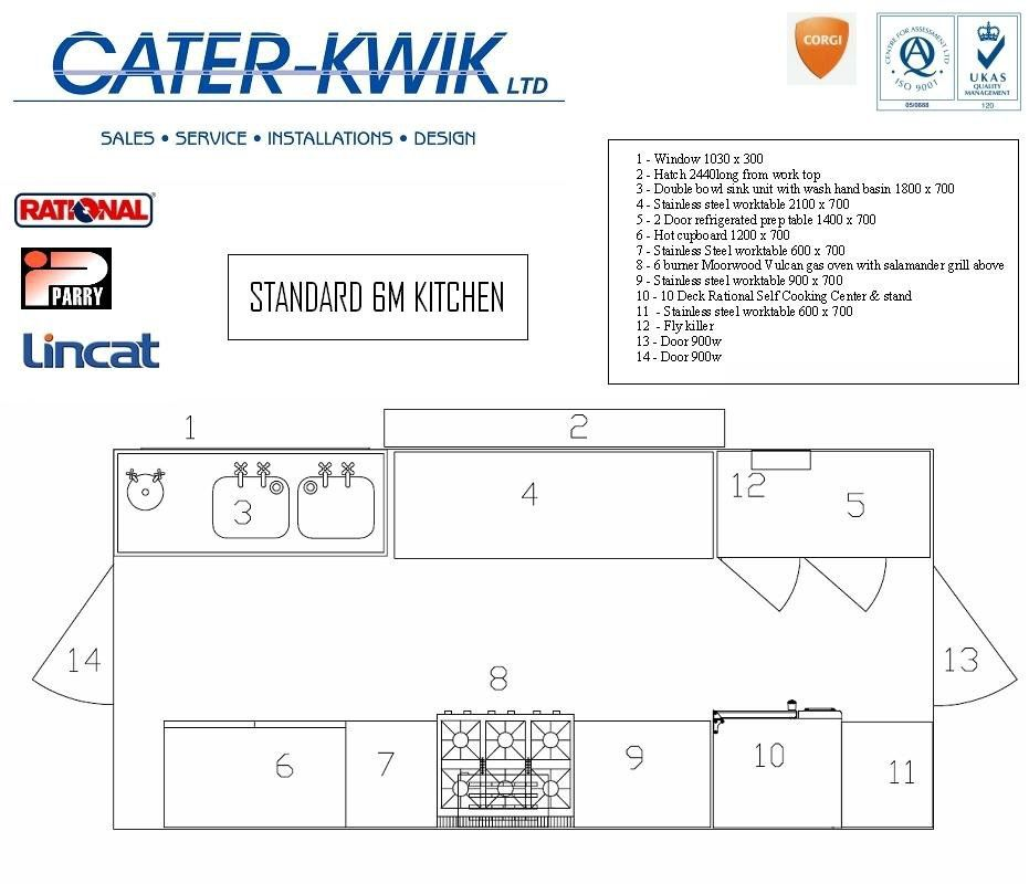 Restaurant Kitchen Equipment Layout commercial kitchen layout | cater-kwik commercial events kitchens