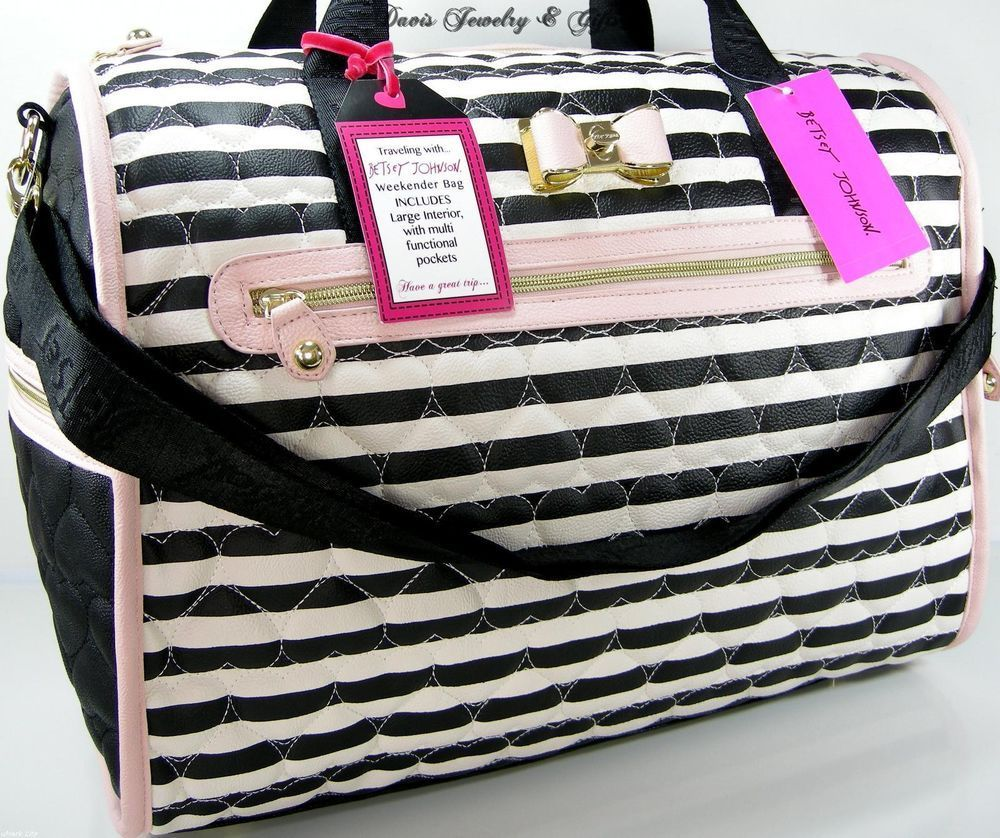 betsey johnson xl tote duffle weekender bag carry on