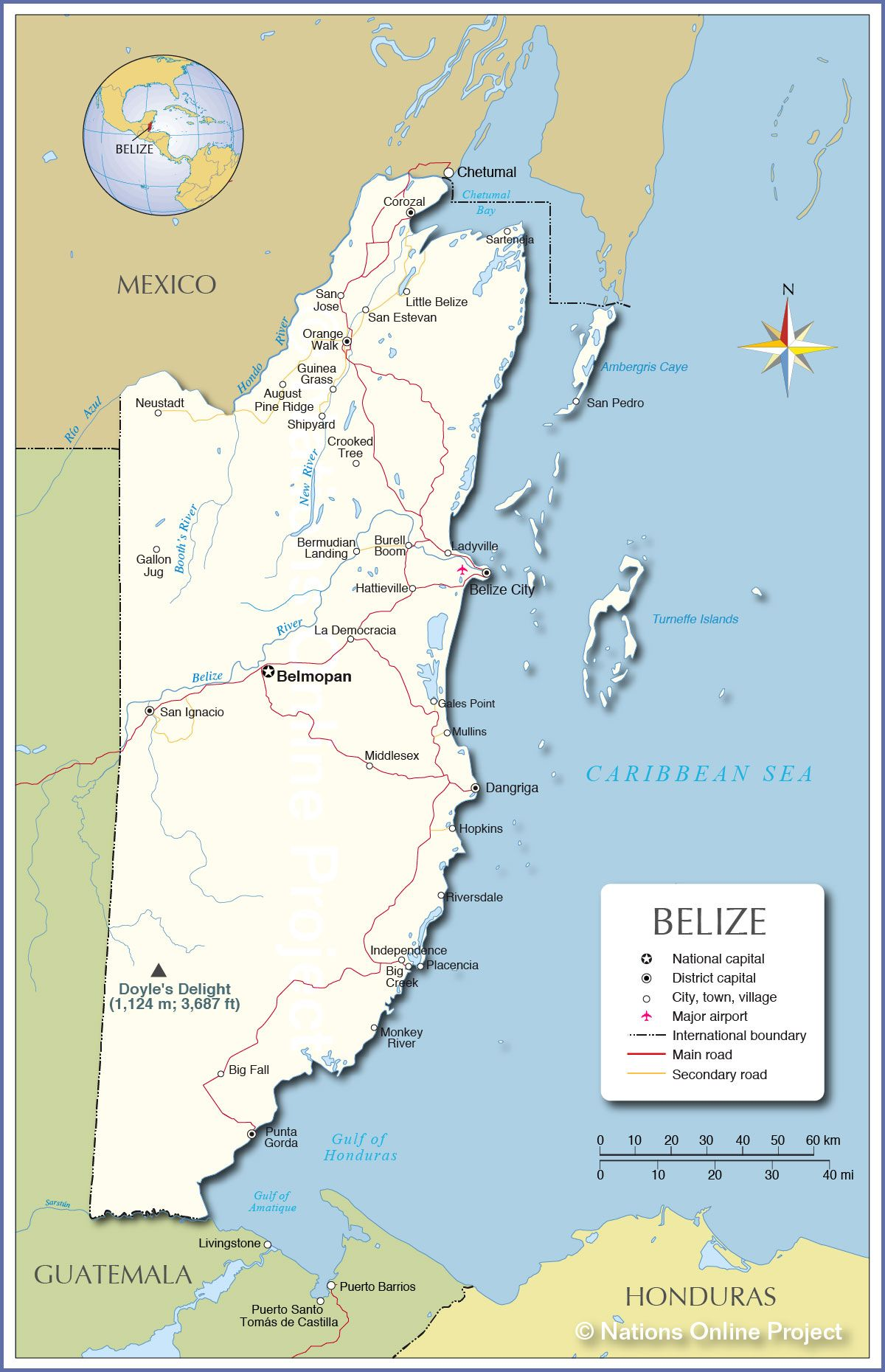 Belize is a country on the northeastern coast of Central America. It is the only country in Central America that has English as its official language