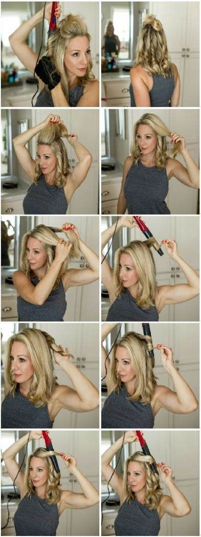 57+ Trendy Hair Wedding Waves Flat Irons | How to curl your hair, Hair waves, Medium hair styles