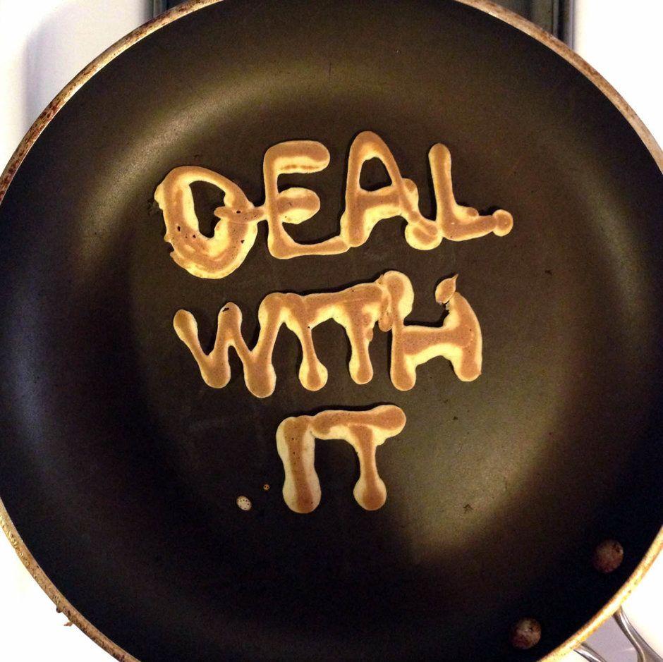 Hahaha pancake letters