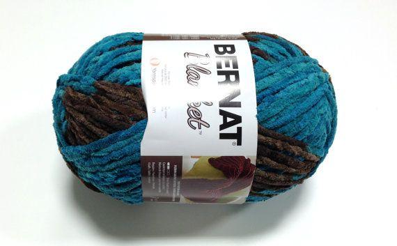 Bernat Big Blanket Yarn Mallard Wood Large Skein 300 Grams