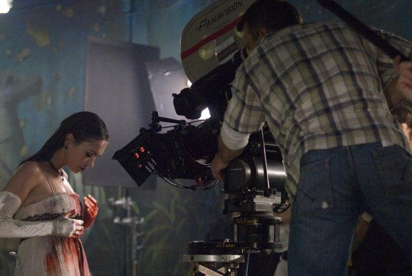 Megan Fox on the set of Jennifer's Body.   Jennifer's body, Megan fox,  Jennifer