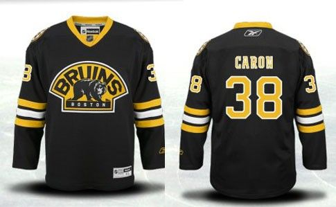 f45dd5dfe Boston Bruins 38 Jordan Caron Third Jersey - Black  Boston Bruins Hockey  Jerseys 107