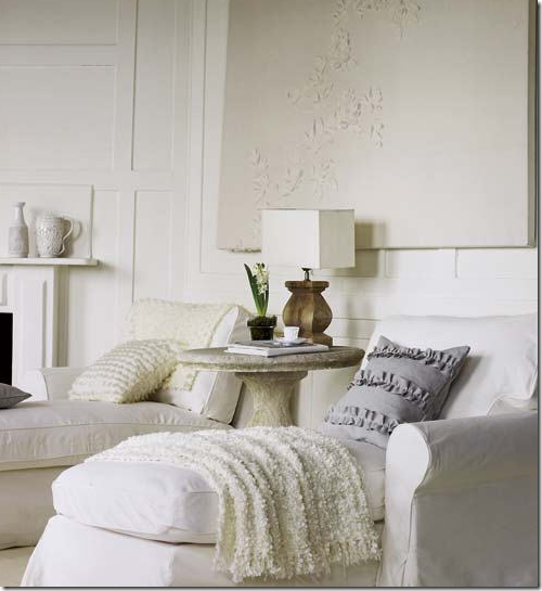 His And Hers Chaise Lounges In White Linen Are A Perfect Alternative