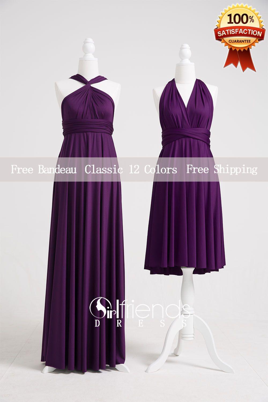 Dark purple wedding dress  Dark Purple Bridesmaid DressConvertible DressesInfinity Dresses
