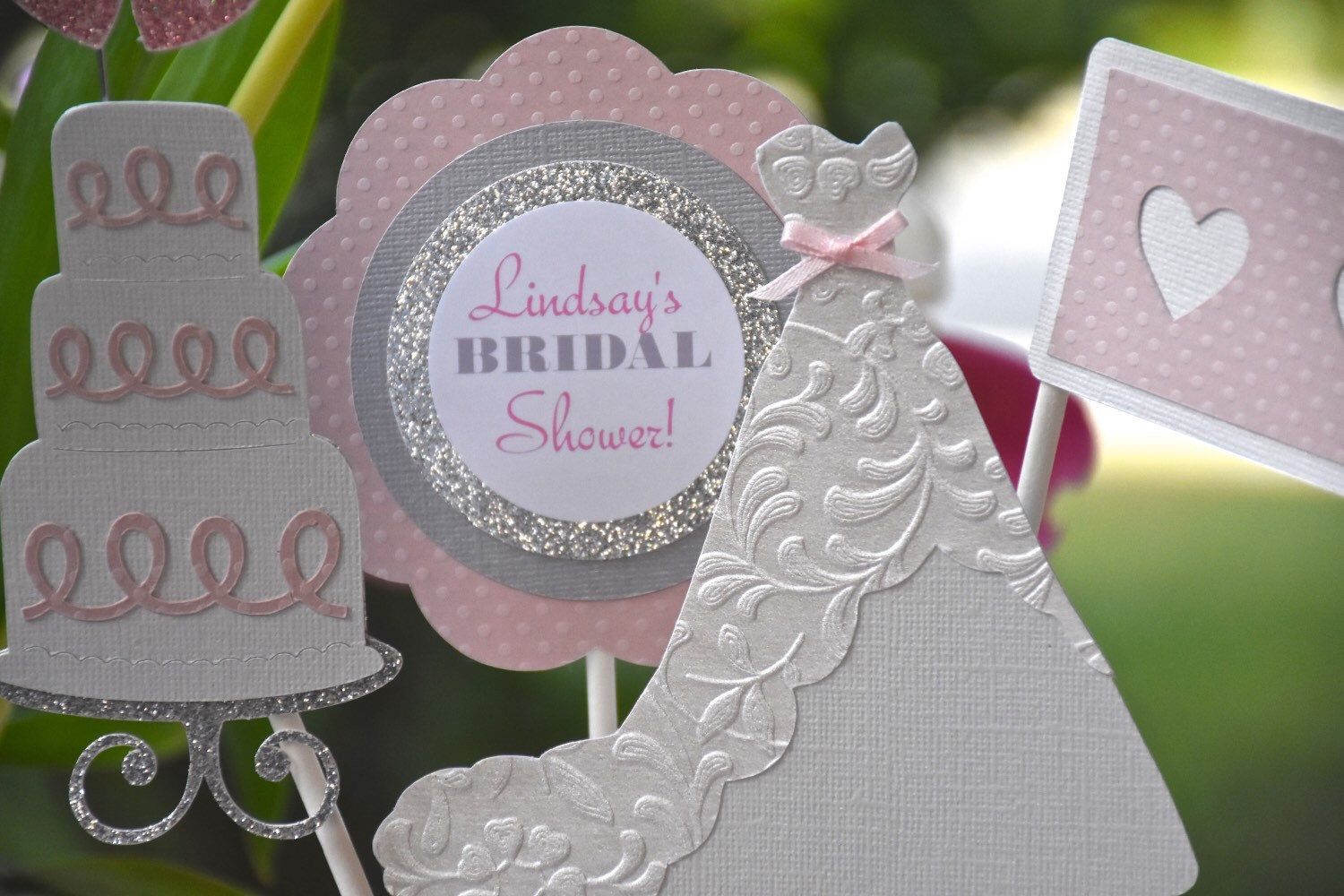 A personal favorite from my Etsy shop https://www.etsy.com/listing/269350271/bridal-shower-centerpieces-bride-2-be