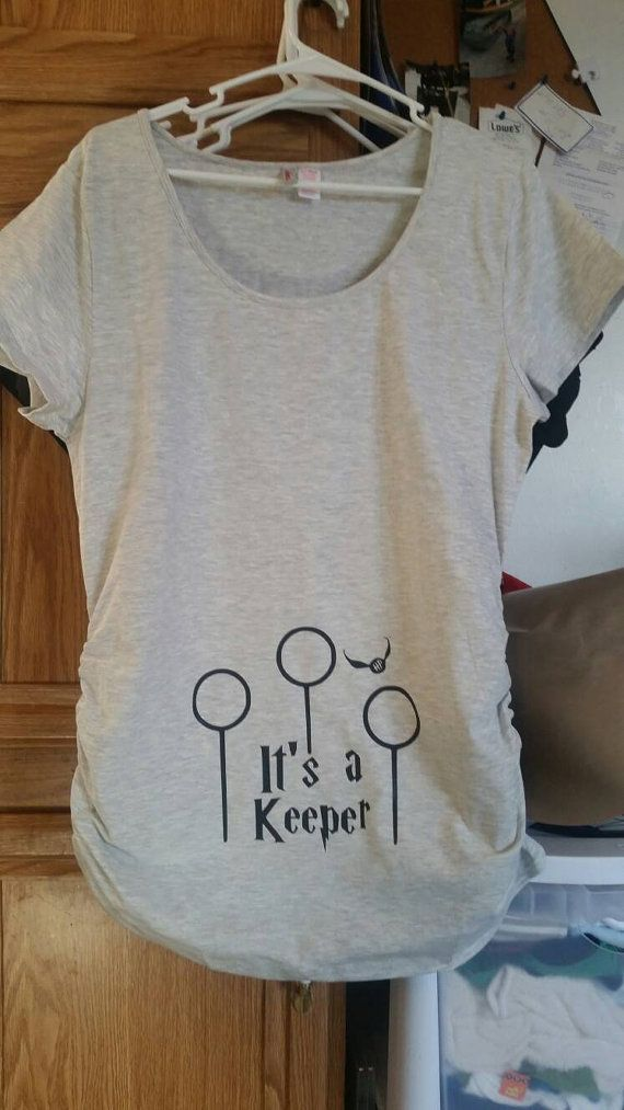 7fd7090bcd6d0 It's a keeper Harry Potter Maternity Shirt by FandomMaternity ...