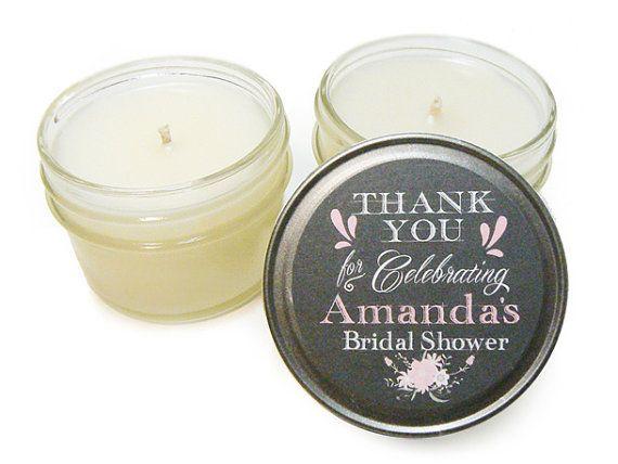 bridal shower wedding candle favors mini mason jar favors by urbanchaosusa