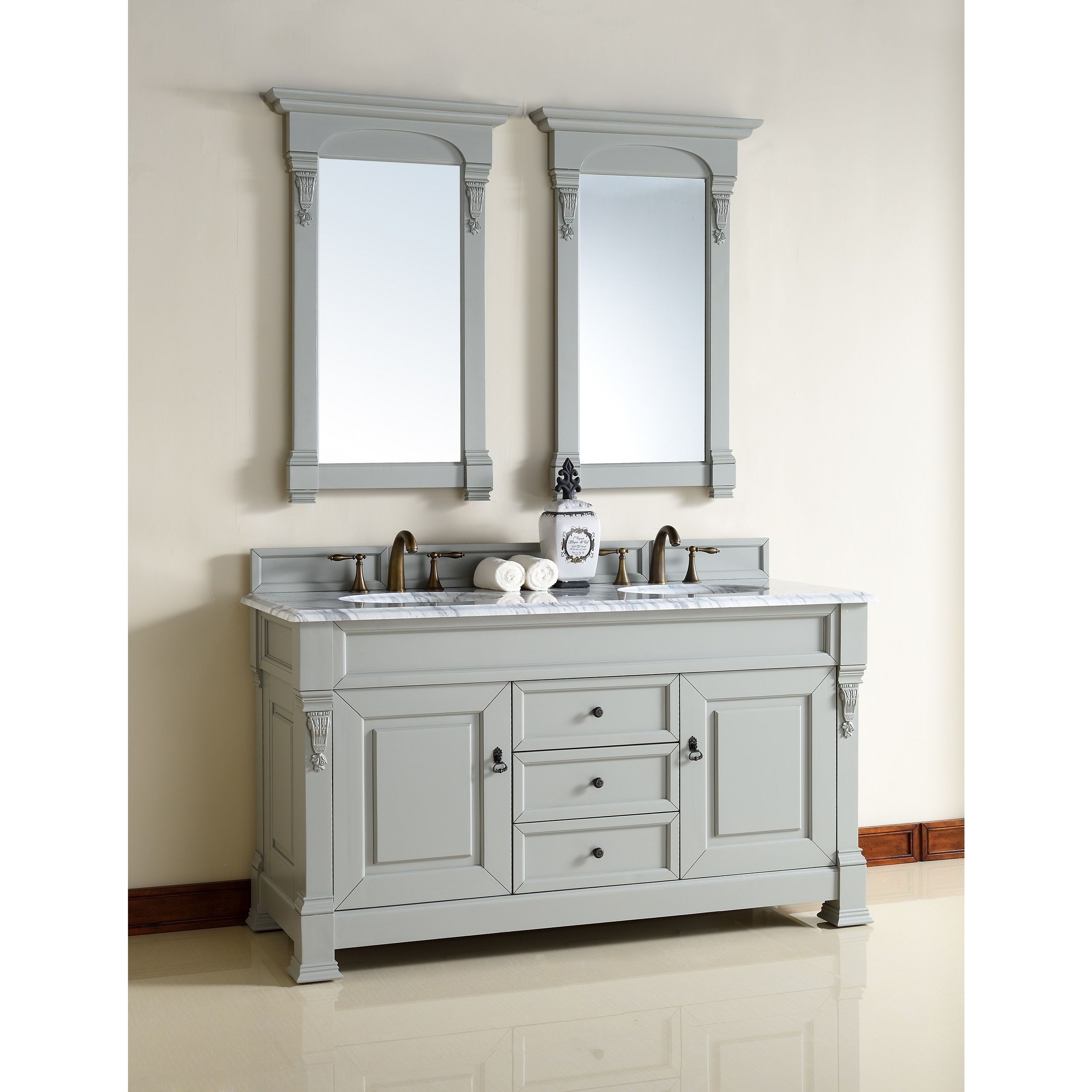 Take any bathroom to the next level with this double sink vanity ...