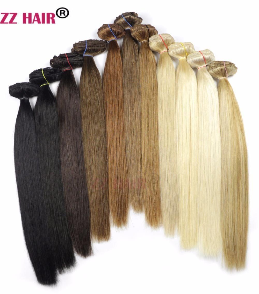 Visit To Buy Zzhair 24 60cm 100 Brazilian Hair 7pcs Set Clips In