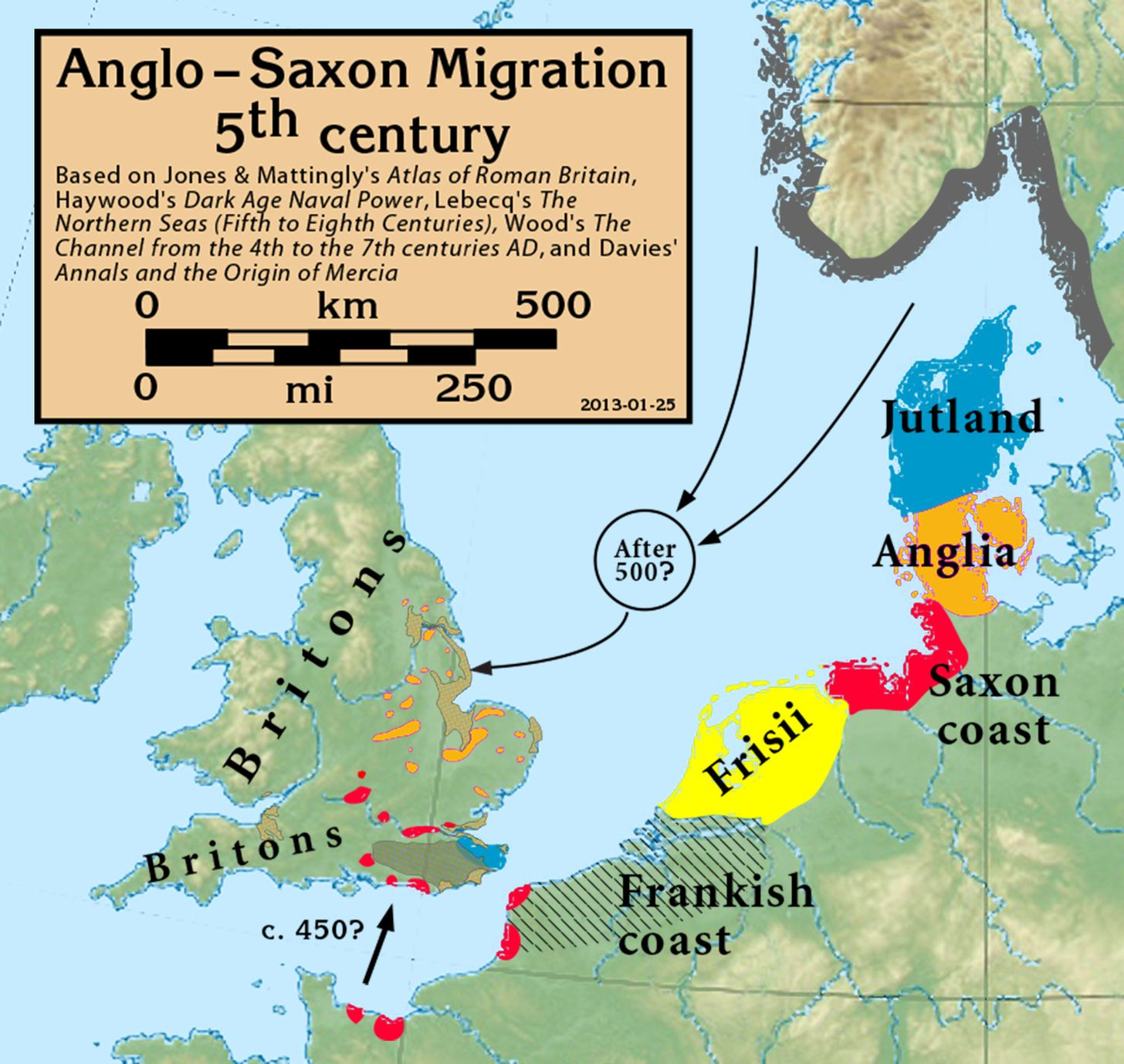 AngloSaxon Migration Th Century X Maps - Sweden map hedestad