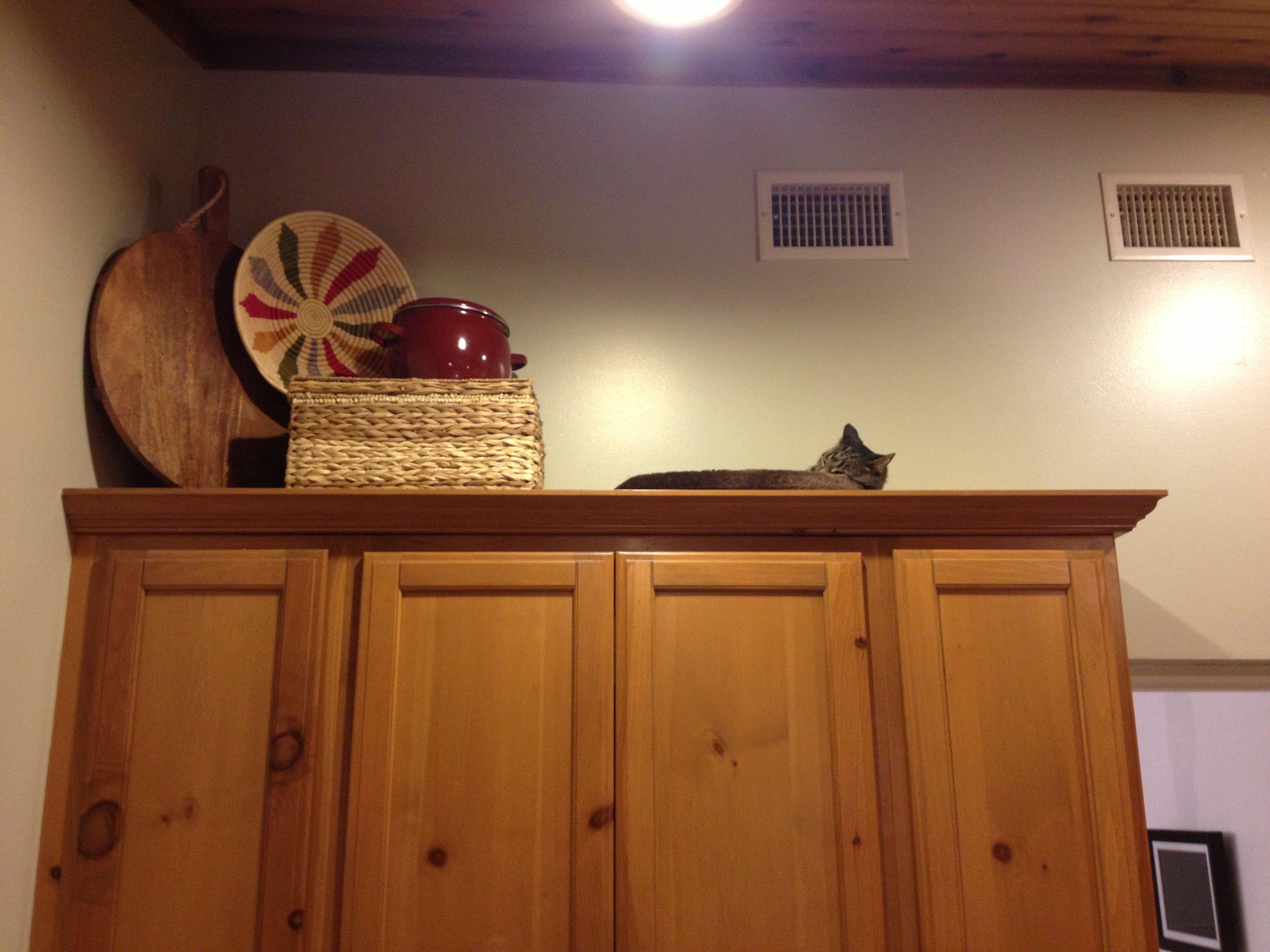 Kitchen Above Cabinet Basket Decor 697 Kitchen