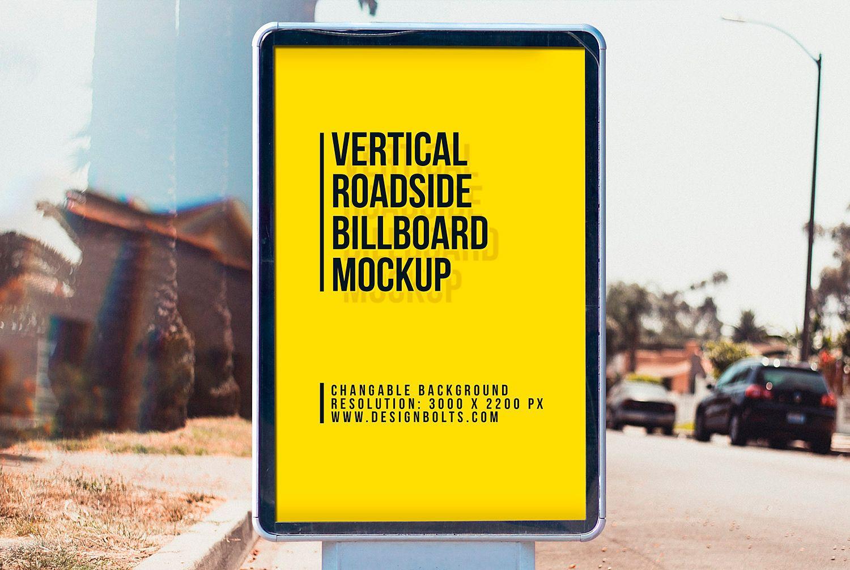 City Light Street Billboard Mockup Free Billboard Mockup Billboard Mockup