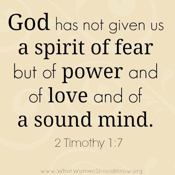 Image result for fear scriptures