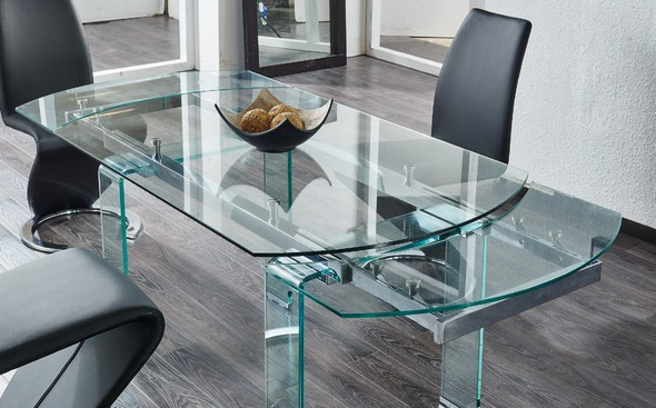 G2160 Black Table D2160 9002 Wilcox Global Furniture Usa Dining Room Sets Contemporary Dining Room Tables Glass Dining Table Extendable Dining Table