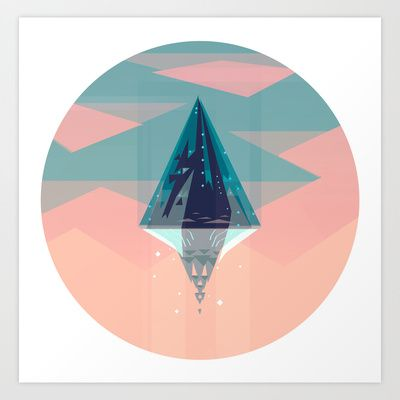 Enlightened Mountain Art Print by David OReilly - $17.68